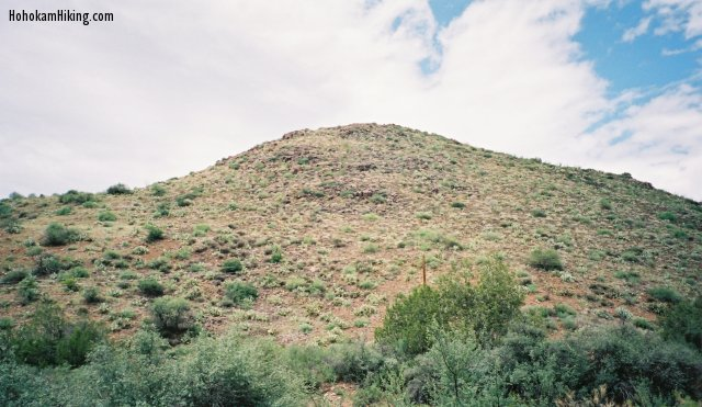 Looking up at Black Mountain from Gisela Road