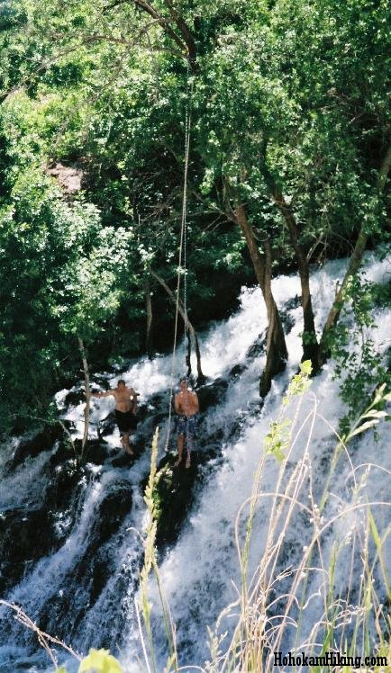 Fossil Spring's waterfall