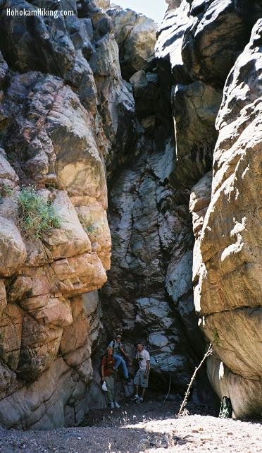 The box canyon near the ruins