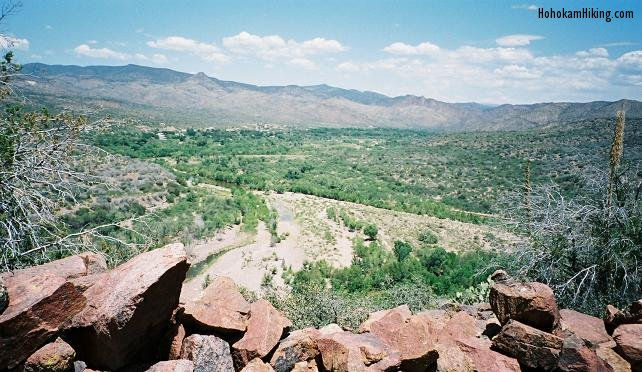 You can see the town of Gisela, AZ looking north from the ruins