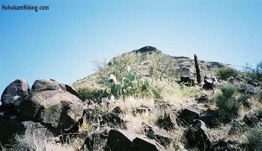 Small peak where petroglyphs are located.
